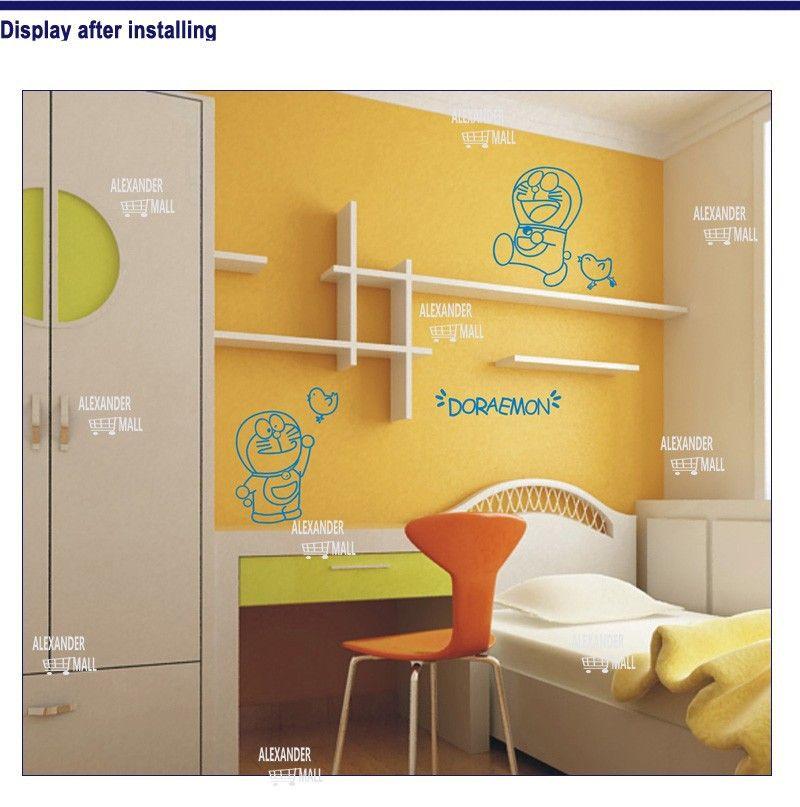 doraemon PVC bedroom kidsroom wall decoration stickers vintage ...