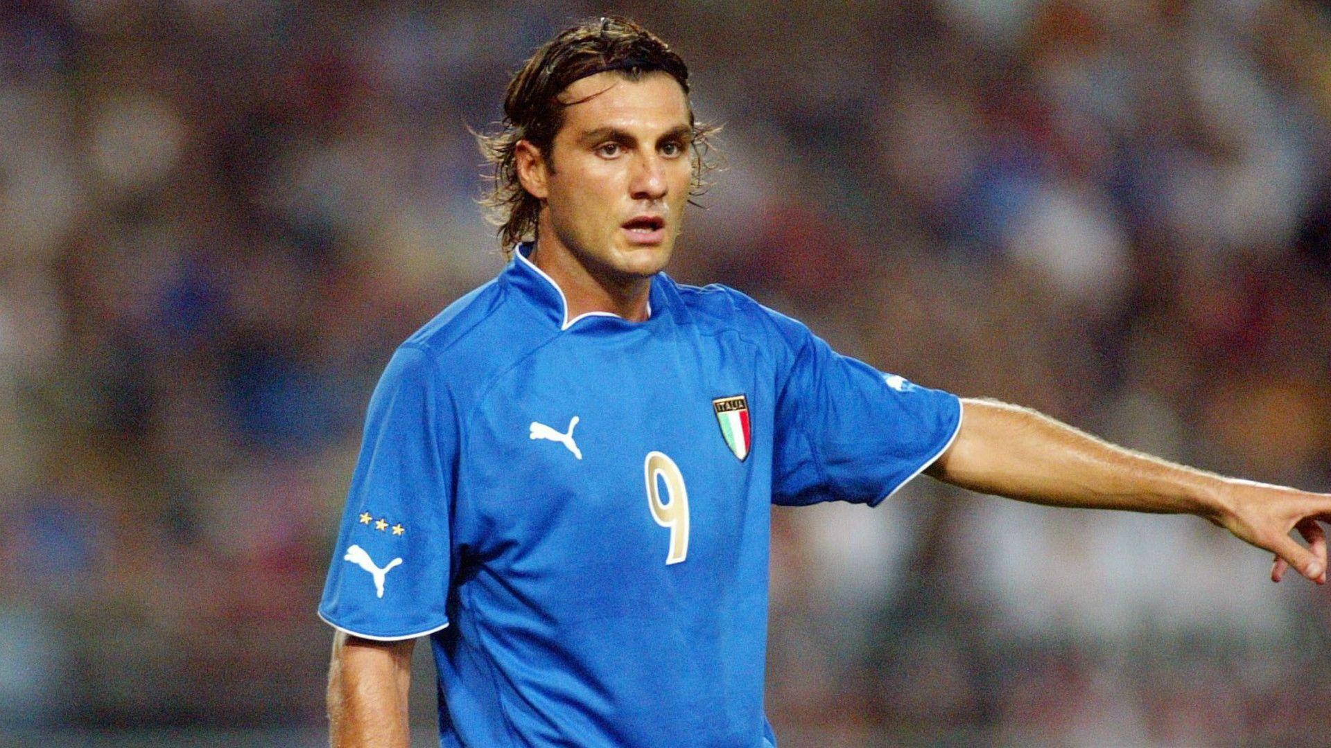 FIGC Christian Vieri 9ine Italy Pinterest