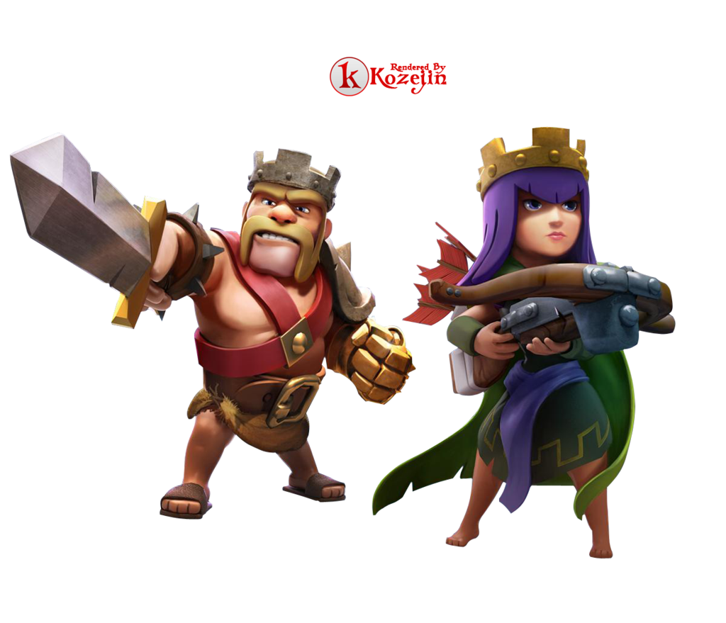 Clash Of Clans King And Queen Render By Kozejin Clash