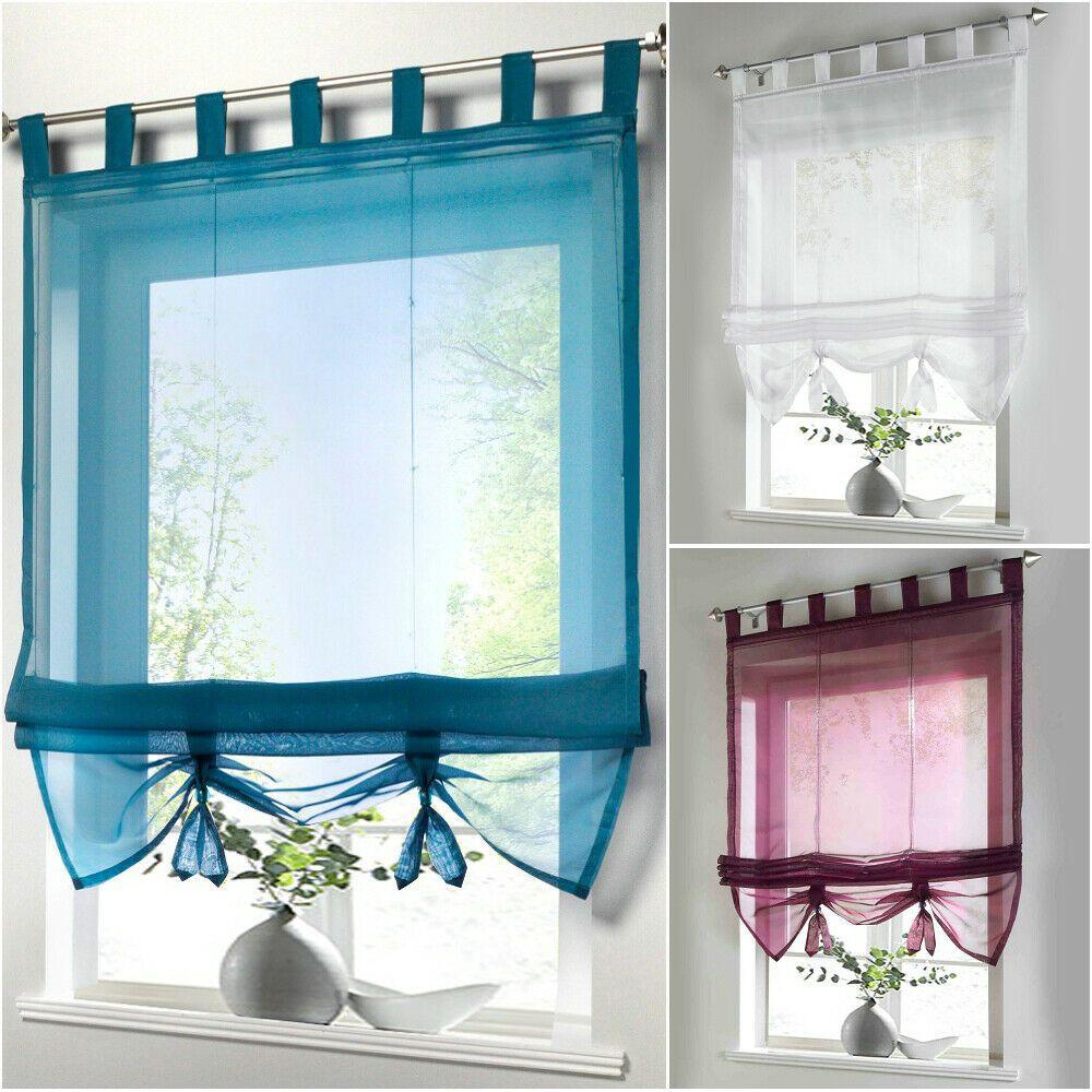 Raffrollo Gardine Vorhang Fenstervorhang Scheibengardinen