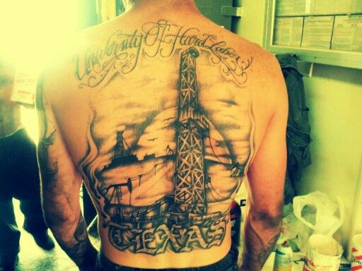 This is one of THE best oilfield tattoos I have ever saw! | oilfield ...