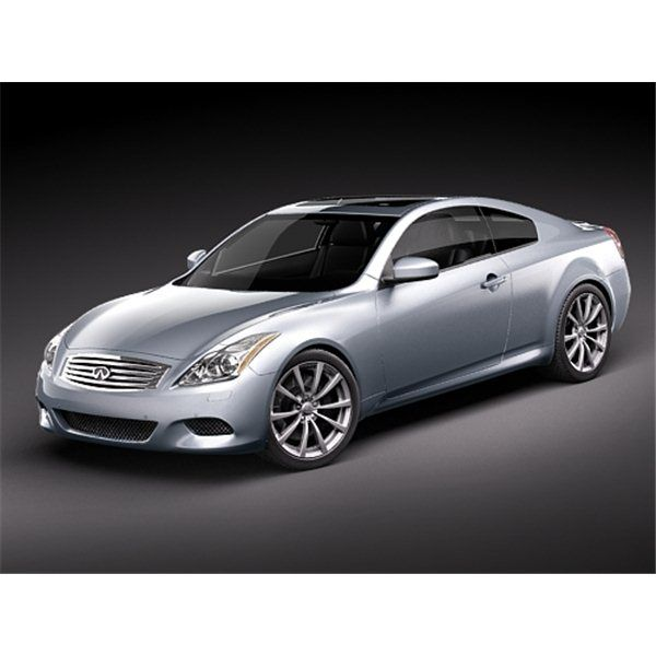 Infiniti G37 Coupe Sports Car  3D Model  High Quality 3D Models