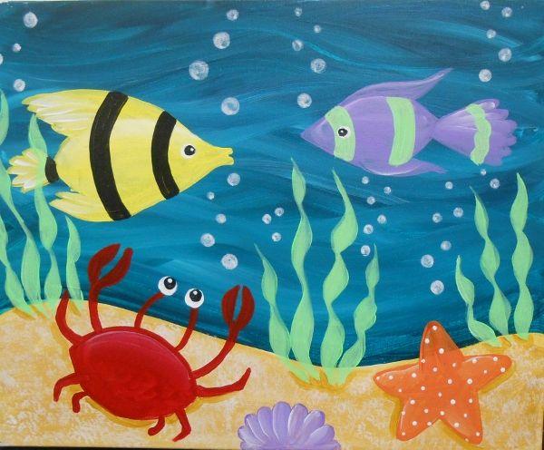 Under the Sea Painting Class @ Abington Community Library | Clarks Summit | Pennsylvania | United States