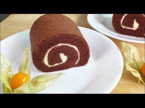How to Make Chocolate Swiss Roll (巧克力瑞士卷) * - YouTube