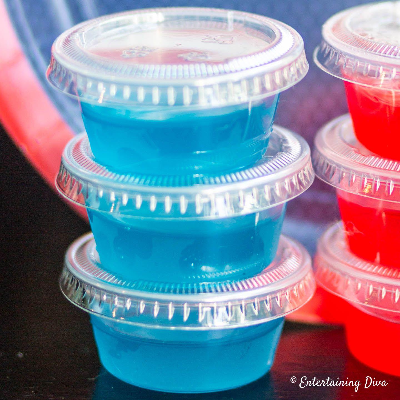 This Berry Blue Coconut Rum Jello Shots Recipe Has A