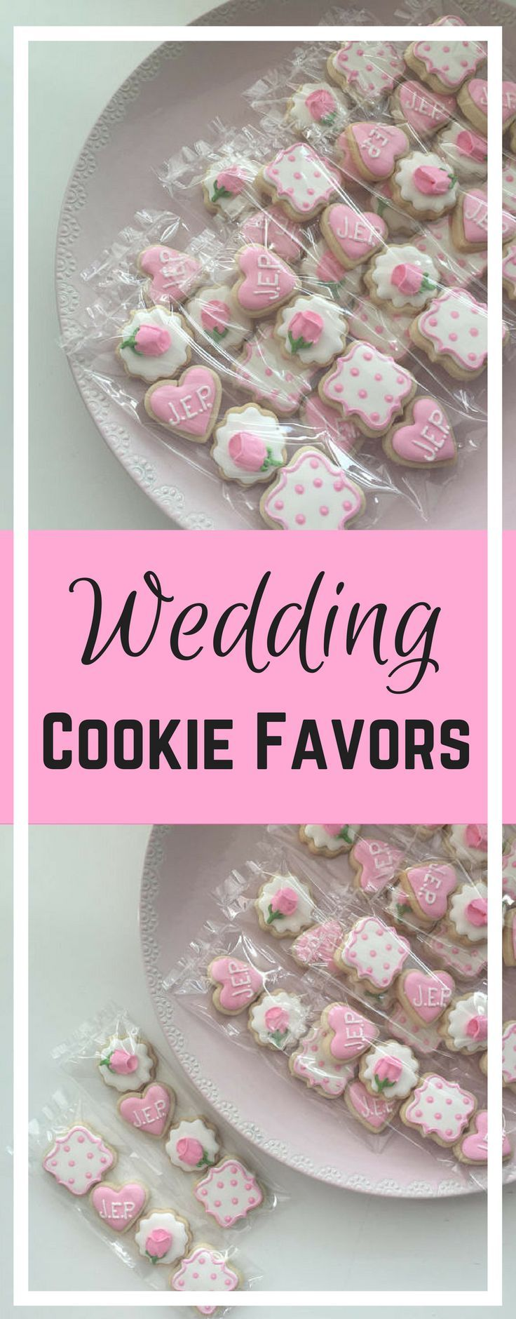 Wedding Cookies, Mini Cookies, Shower Cookies, Wedding Favors ...