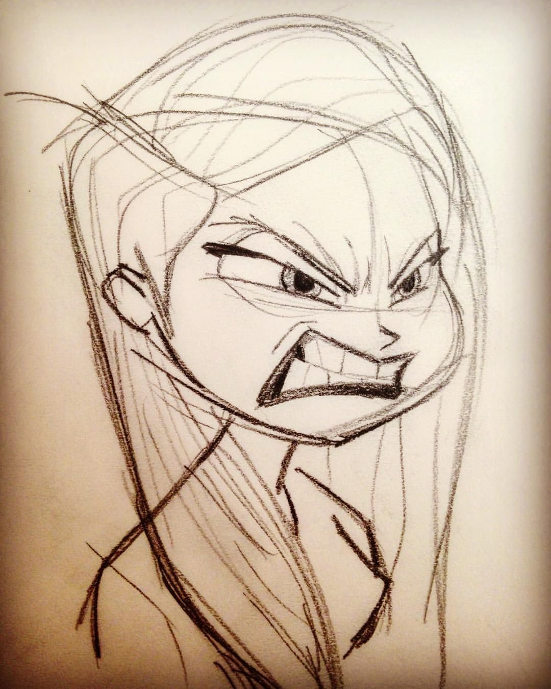 Angry girl doodle drawings drawing sketches pencil drawings drawing art doodle art