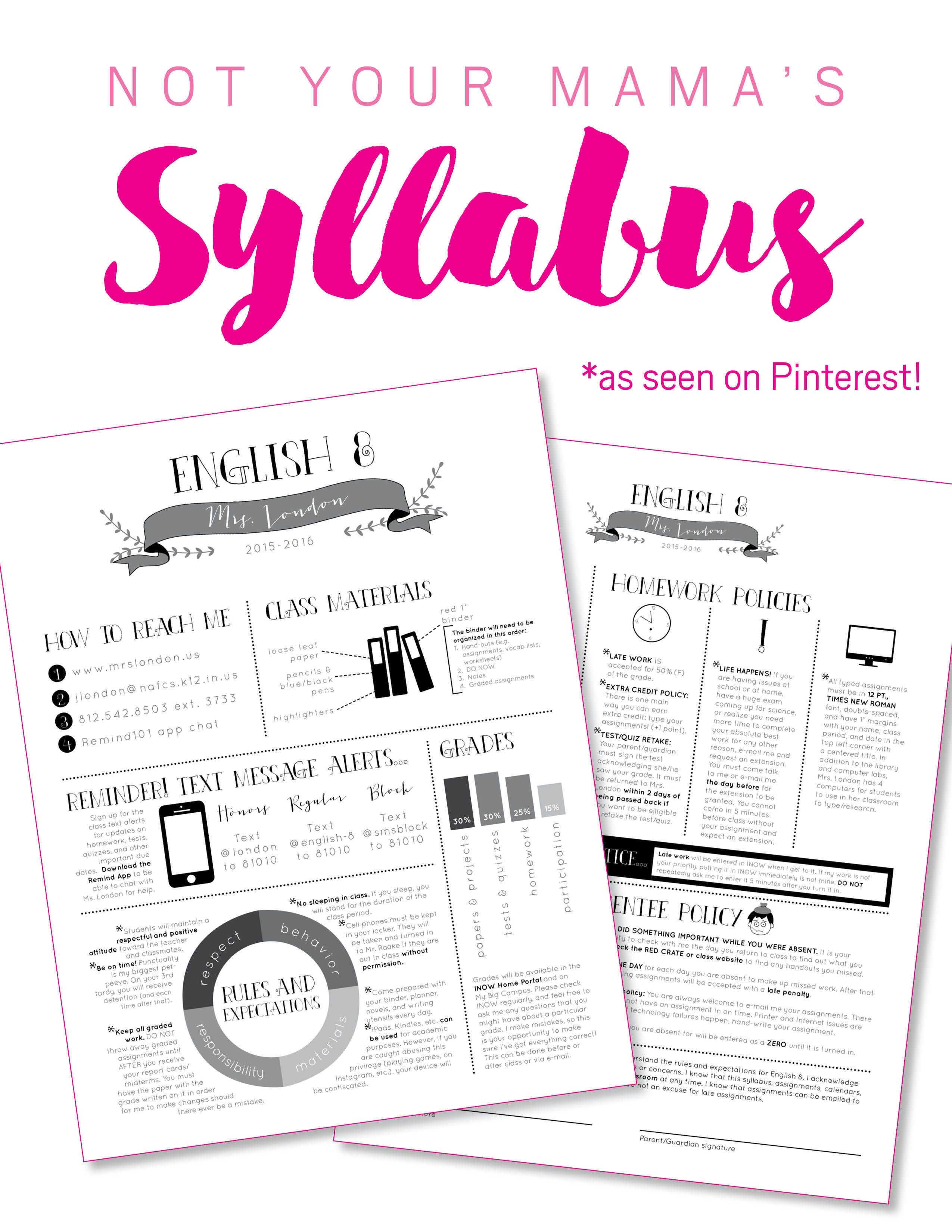 Nontraditional Syllabus Template Software Adobe Indesign