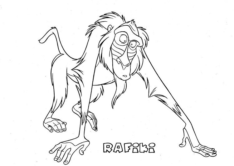 Lion King Coloring Pages Rafiki In 2019 Lion Coloring Pages