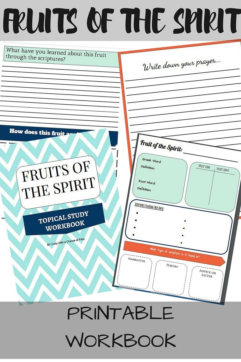 Workbooks spiritual gifts workbook : Fruits of the Spirit Free Printable Workbook- Looking for a new ...