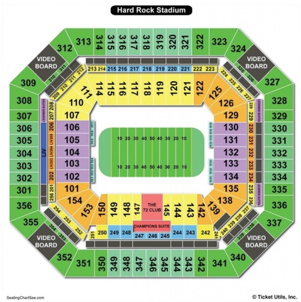 Hard Rock Stadium Miami Seating Chart Hard Rock Oklahoma Alabama