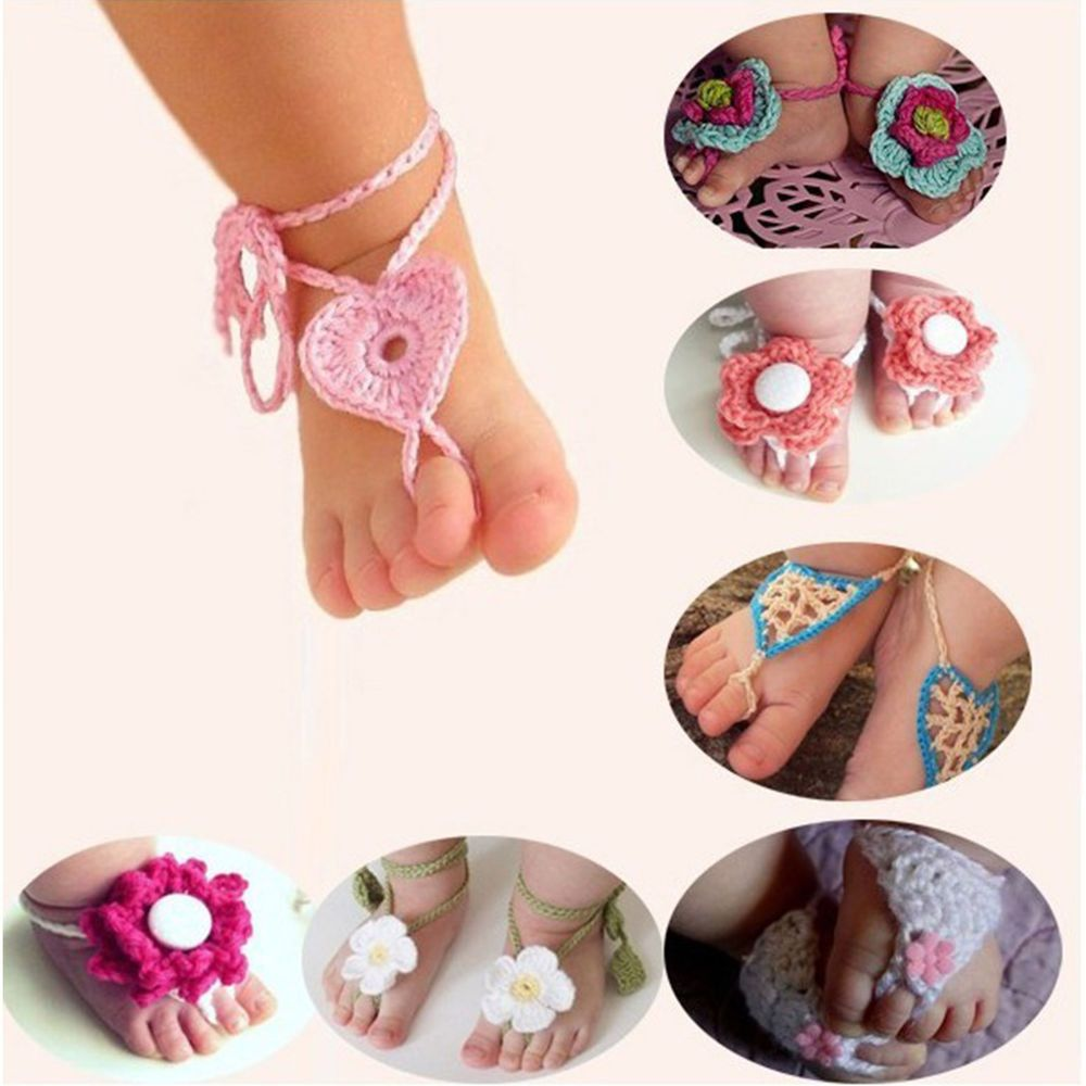 Barefoot,sandals,girls,shoes,gift,photo/'s,crocheted,purple,pink,6-18 months,baby,toddler
