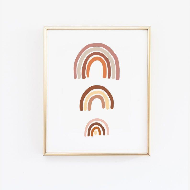Instant Download Neutral Rainbow Art Baby Room Poster Quote Printable Poster Boho Wall Art Nursery Print Art Rainbow Wall Decor Print