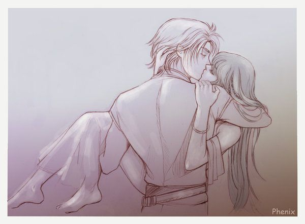 Pencil Sketch Couple Wallpaper