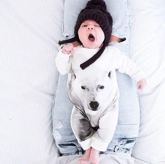 SR057 Розничная осень/зима мальчик и девочка комбинезон младенца восхождение…
