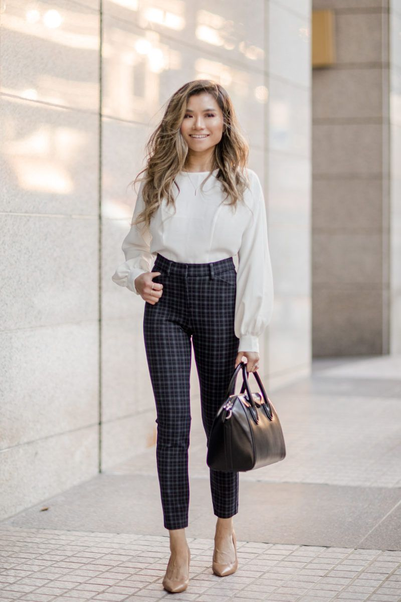 Work-outfits-for-women-fall-express-work-clothing-plaid-suit-givenchy-small-antigona-bag-blogger-miss-louie-1 - Miss Louie
