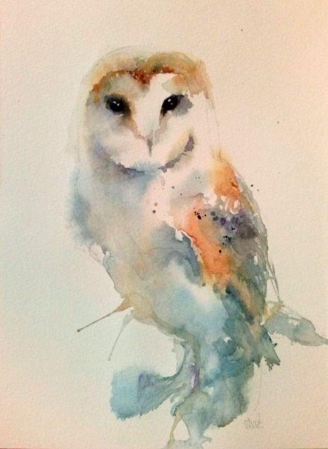 ARTFINDER Barn Owl Watercolour By Inspire Studio Gallery Artist Sarah White