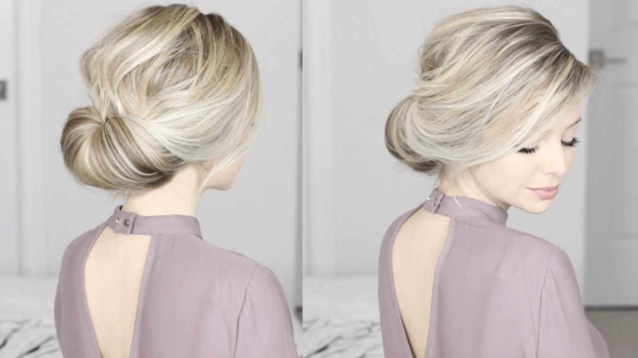 Easiest Updo Ever Super Simple Perfect For Long Medium Shoulder Length Hair Yo Easy Bun Hairstyles Easy Updos For Medium Hair Medium Length Hair Styles