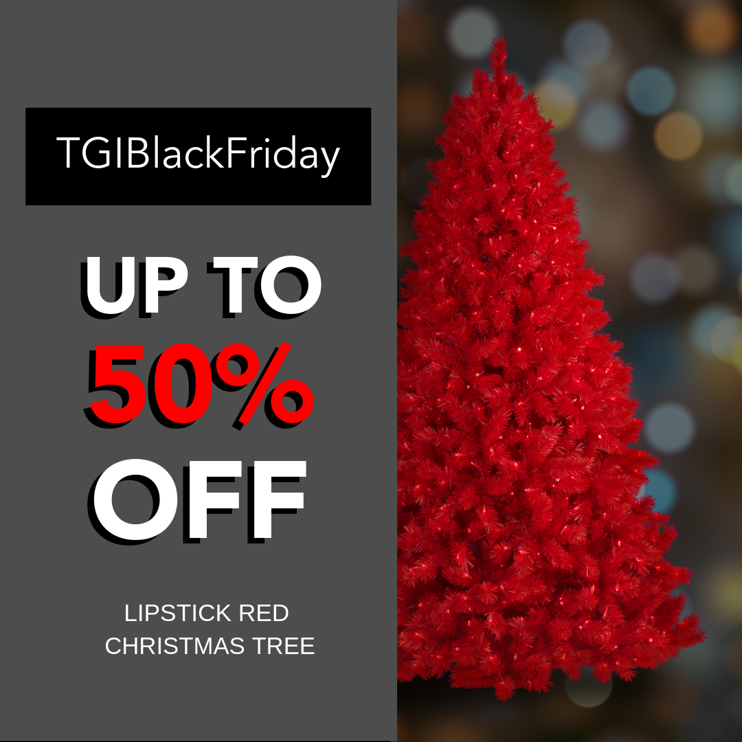 Add Color To Your Black Friday And The Rest Of The Year With A Sweet Treetopia Christmas Tree Deal Red Christmas Tree Christmas Tree Sale Tree Sale