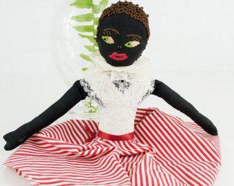 Vintage cloth Black Americana half doll