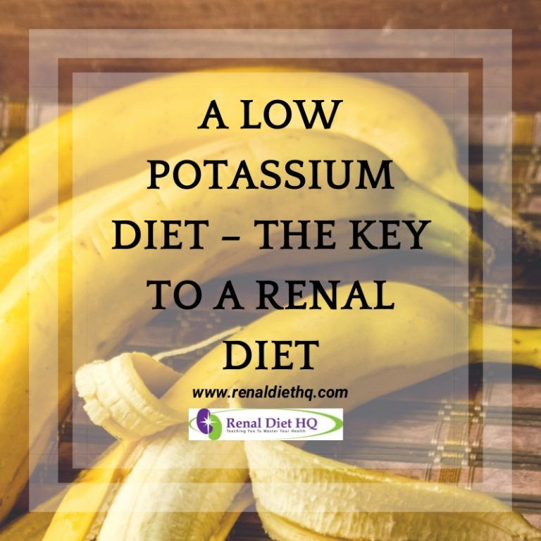 A Low Potassium Diet - The Key to a Renal Diet