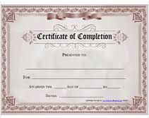 Free templates for certificates of completion google search free templates for certificates of completion google search yadclub Gallery