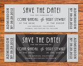 Old Hollywood Wedding Invitation & RSVP Ticket | Hollywood Glam ...
