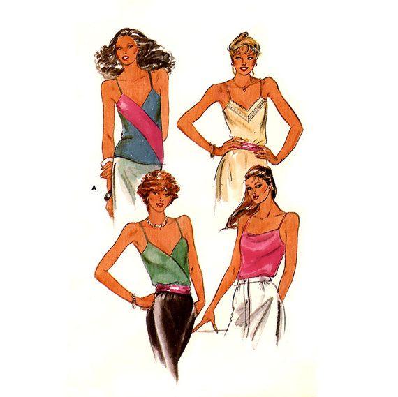 616 Butterick 3158 Womens Sexy Camisole Top Shirt by ladydiamond46 ...