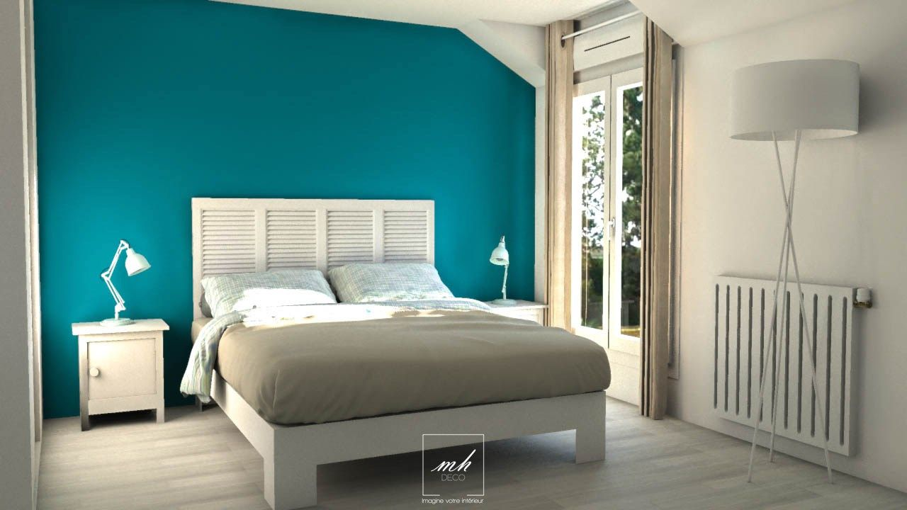 Chambre au style bord de mer mes conception 3d for Idee couleur chambre parents