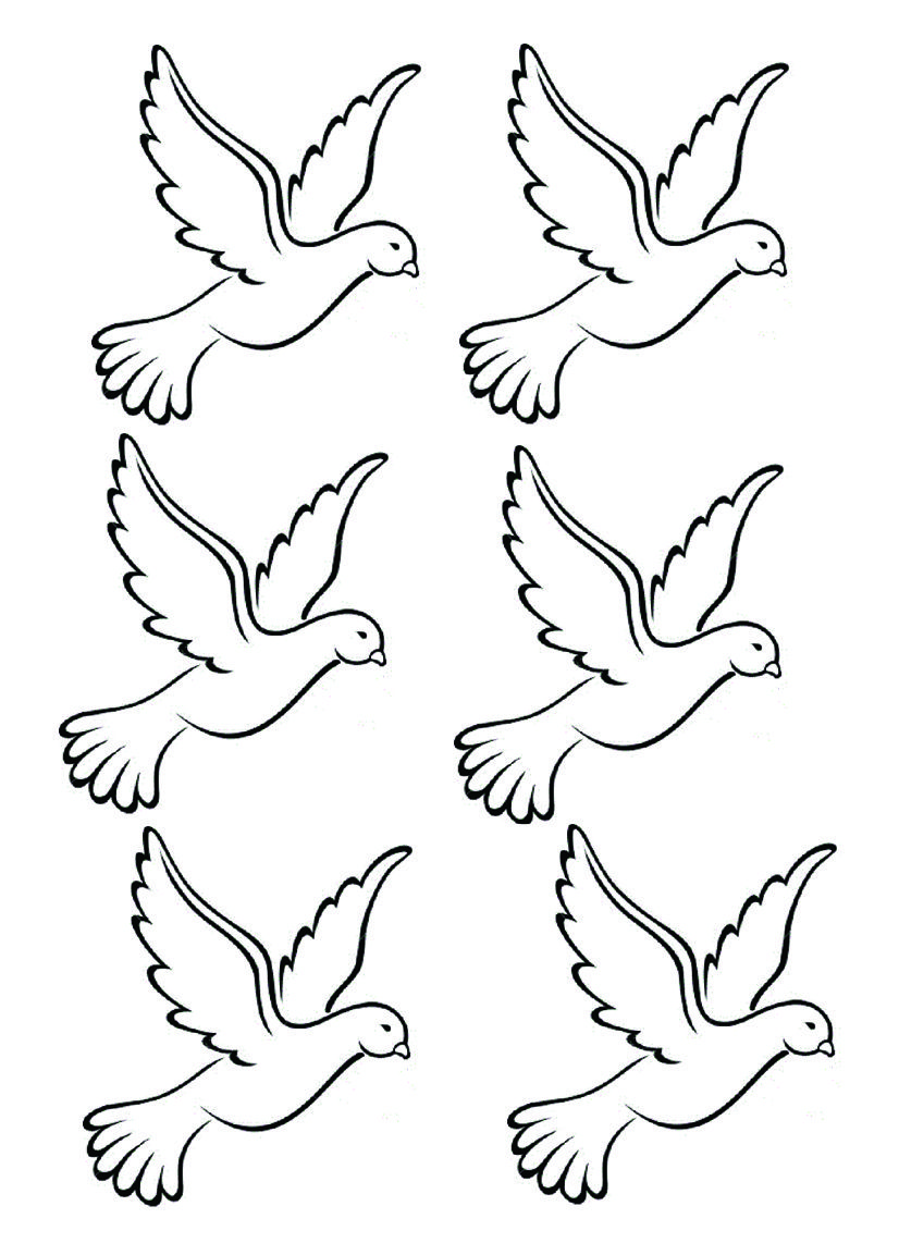 Трафареты картинки голубя