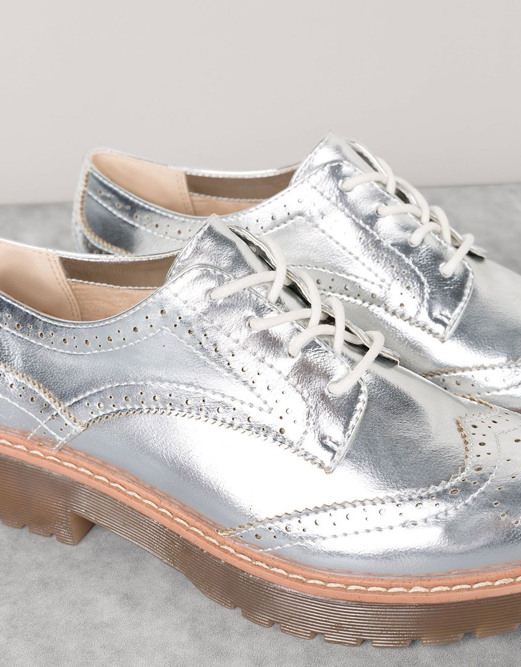Metallic dress shoes. Discover this and many more items in Bershka with new products every week