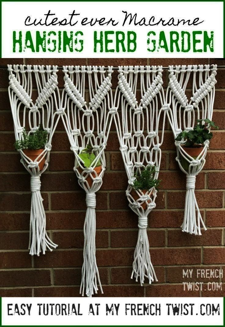 herb garden So many interesting projects are macrame hanging herb garden So many interesting projects are macrame hanging herb garden So many interesting projects are How...