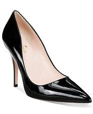 1a2e5d7c4691 kate spade new york Women s Licorice Pumps Size 7.5 Black Patent Leather  Retail