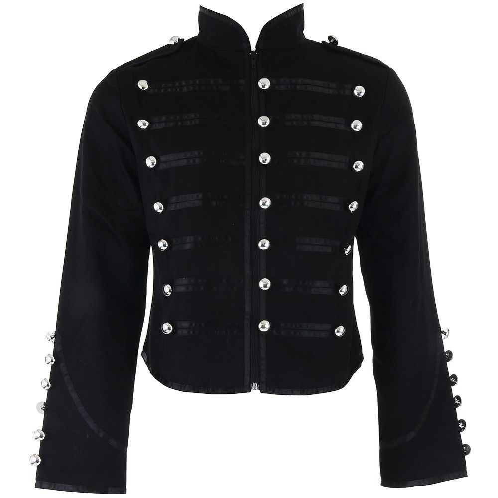 Banned Clothing Black Steampunk Emo Parade Band Gothic Drummer ...