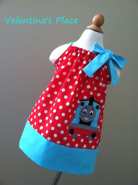 Thomas The Train Pillowcase Inspiration Thomas The Train Pillowcase Style Dress For Girls  Birthdays Inspiration
