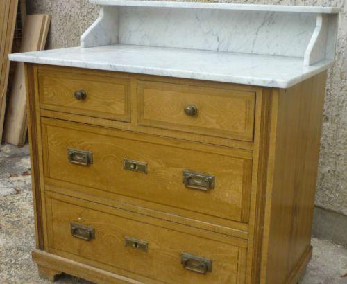 Alter Antiker Jugendstil Waschtisch Mit Marmorplatte Kommode