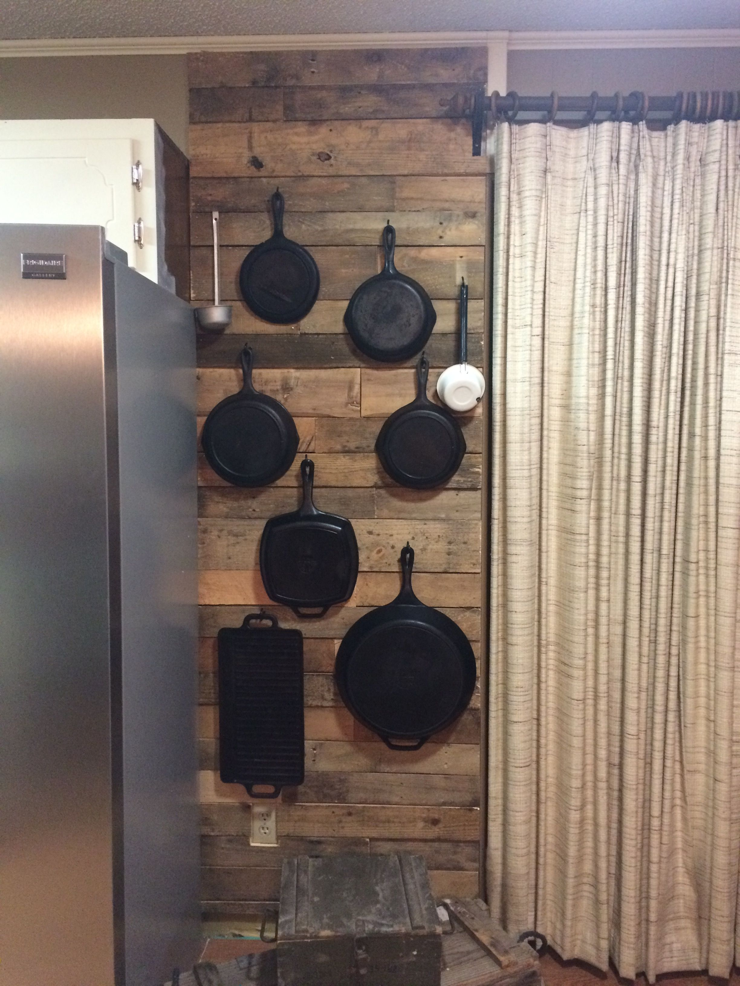 Pallet Wall To Hang Cast Iron Very Happy About This One Cast Iron Decor Iron Storage Cast Iron