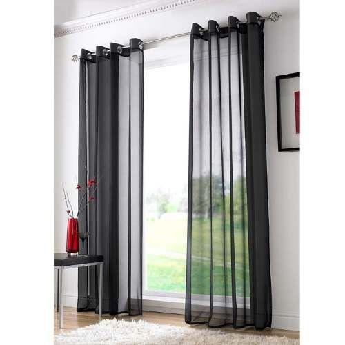 cortina preta para sala quarto  200x250  voil  Detalhes de Decorao em 2019  Cortinas pretas Cortinas e Cortina voil