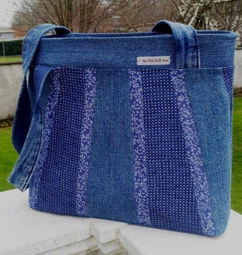 """""""Romantic"""" Handtasche Jeans Upcycling"""