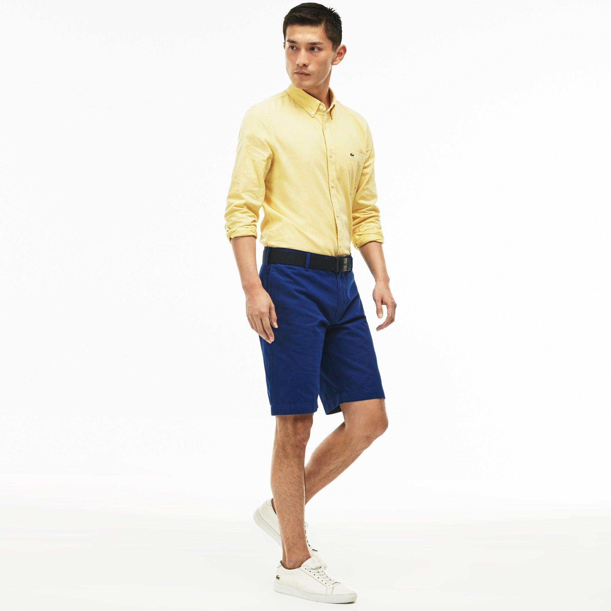 Regular Fit Bermuda Shorts Lacoste Mens Cotton Garbardine Bermuda