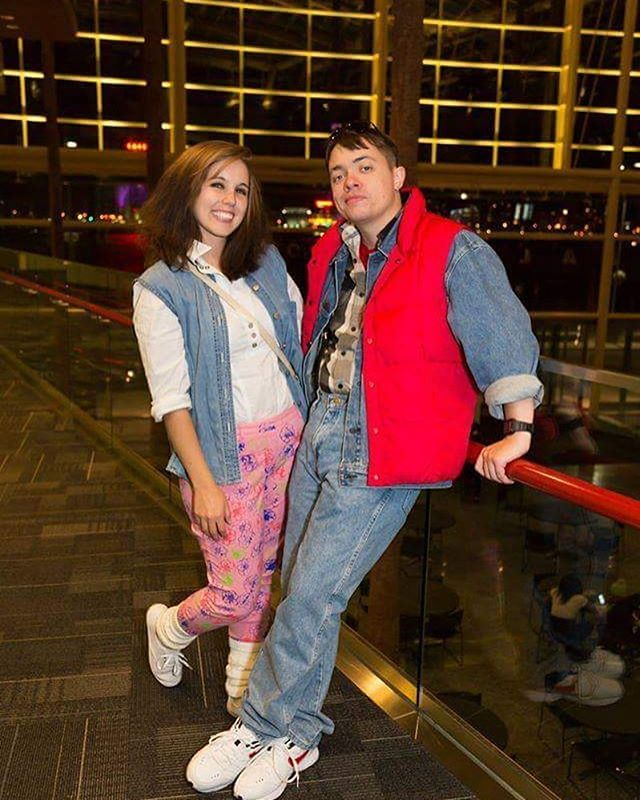 Pin For Later: 13 Couples Costumes Straight Out Of The U002780s Marty McFly And  Jennifer Parker From Back To The Future