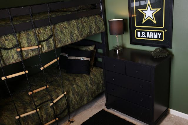 . Army Themed Room   Demorest Designs   Boys room in 2019   Army room