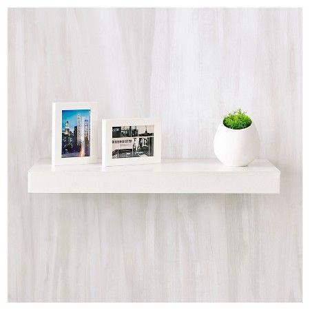 Way Basics 24 Eco Wall Shelf Floating Shelf Natural White Formaldehyde Free Lifetime Guarantee Floating Shelves Wall Shelf Decor White Floating Shelves