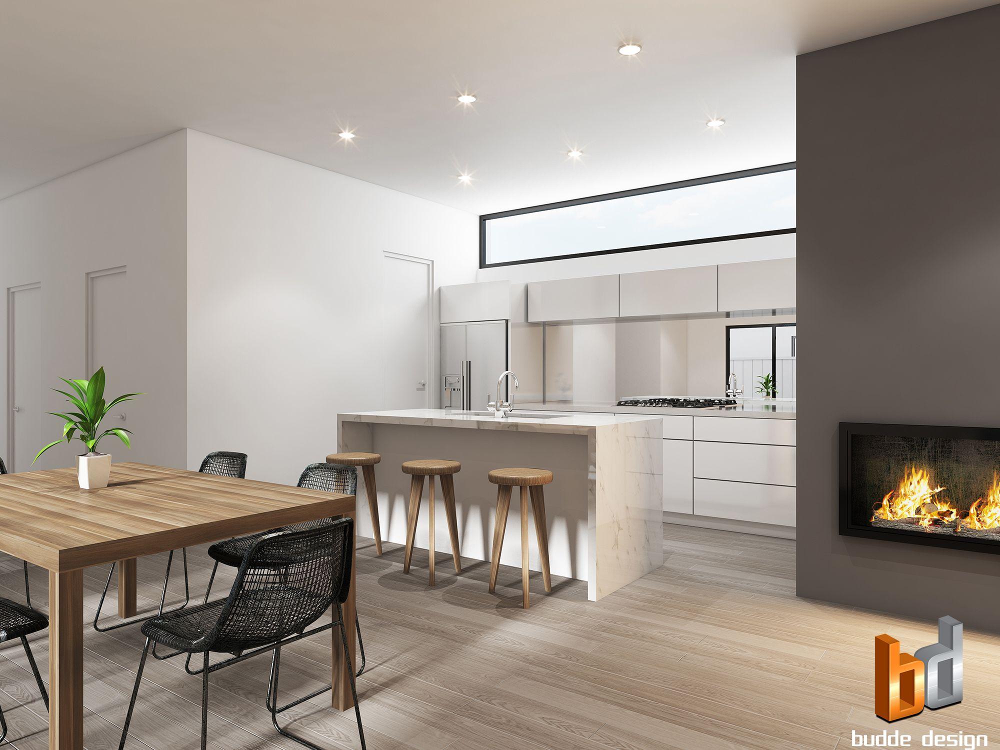 Superior 3D Internal Kitchen / Living Room Render