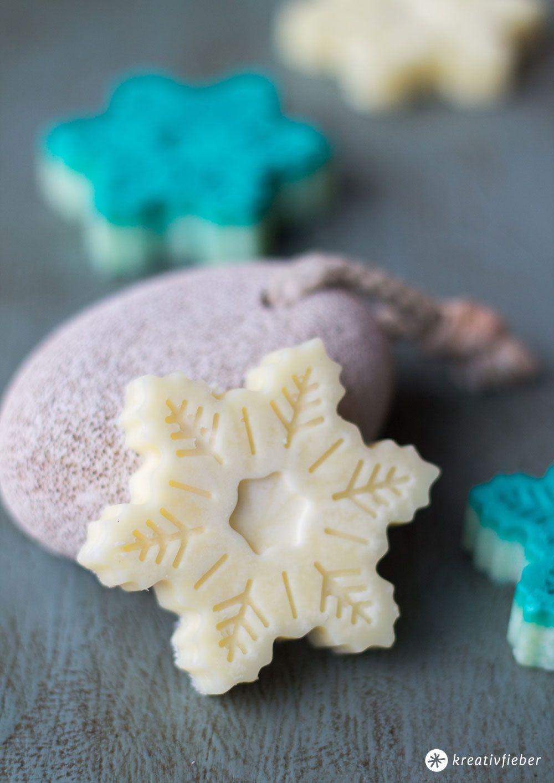 DIY Bath Melts in Schneeflockenform - Geschenke DIY | Pinterest ...