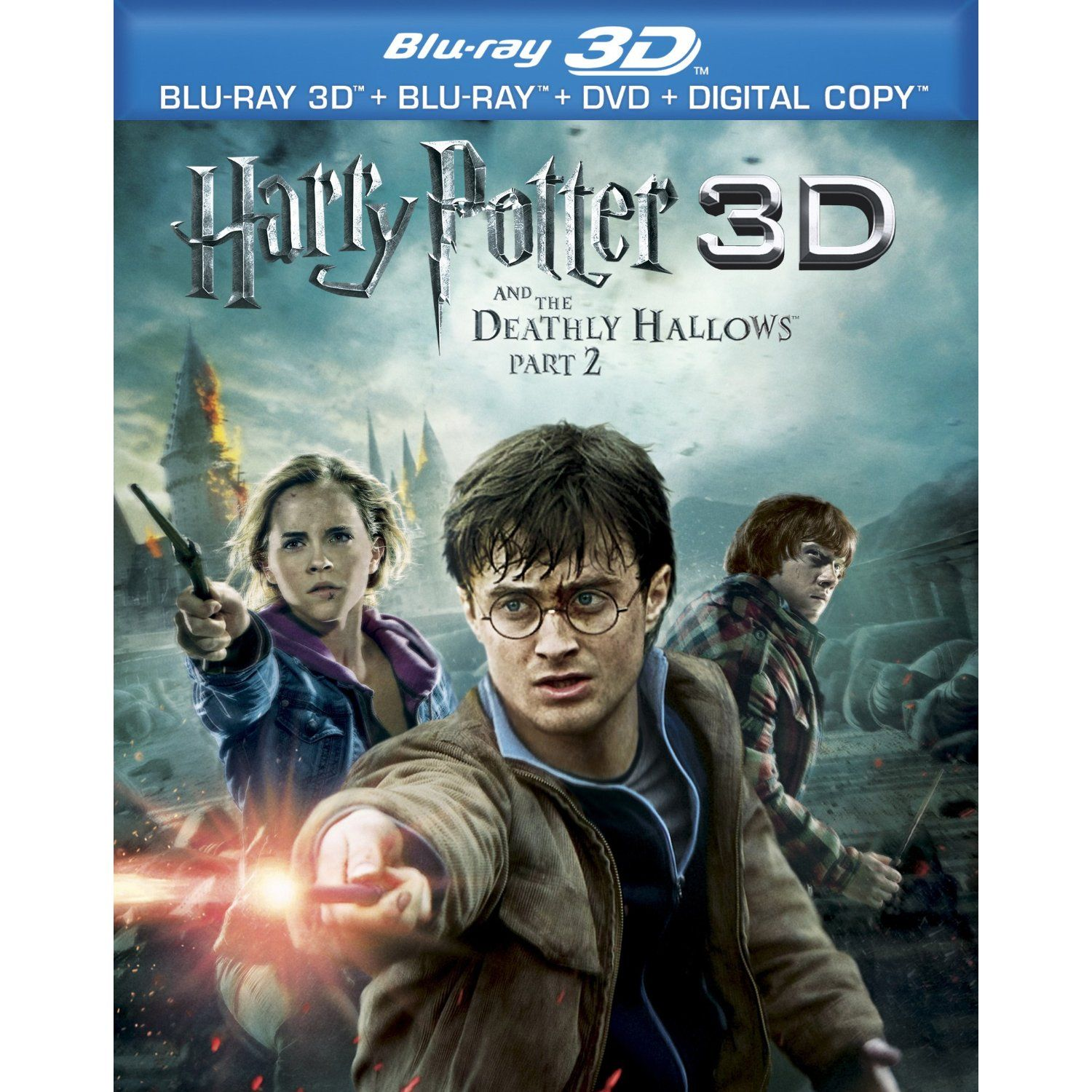 Harry Potter And The Deathly Hallows Part 2 Blu Ray 3d Blu Ray Dvd Digital Copy Deathly Hallows Part 2 Harry Potter Movies Deathly Hallows