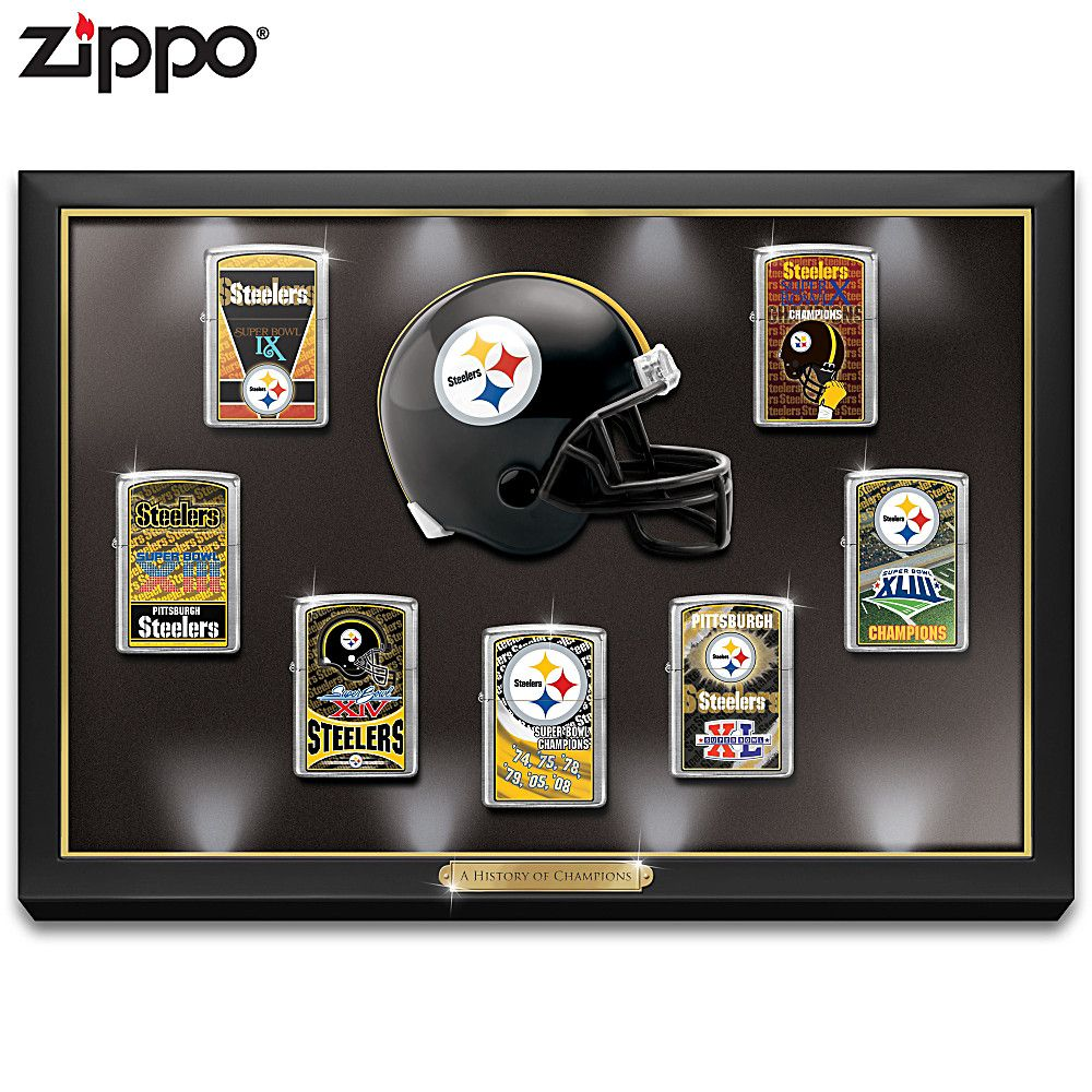 Pittsburgh Steelers Five Piece Decanter And Glasses Set Zippo Collection Pittsburgh Steelers Pittsburgh