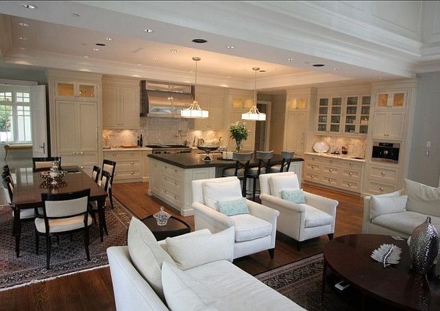 Interior Design Ideas Kitchen Family Rooms Home Dining Room Combo