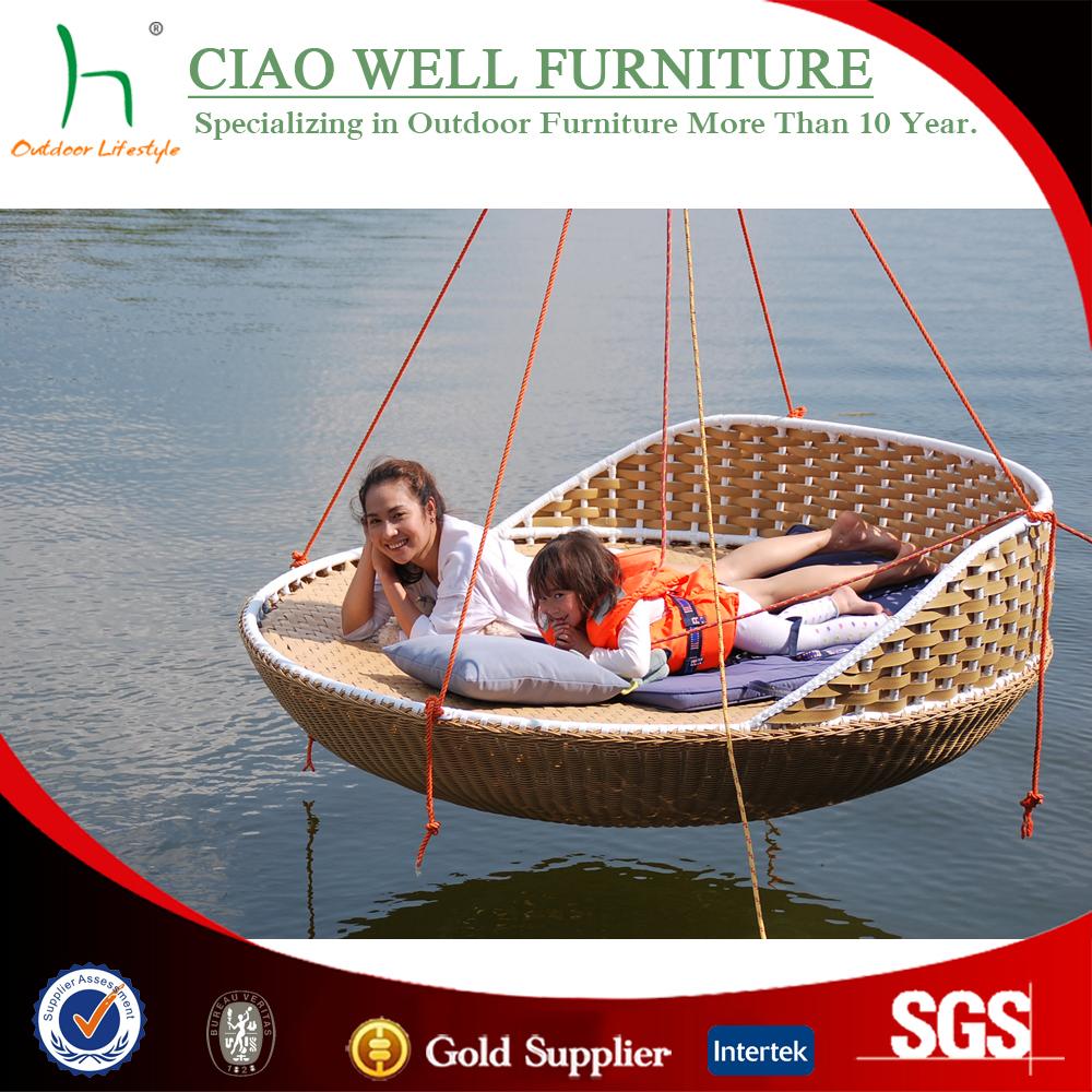 Caliente-venta al aire libre ronda uso diván de mimbre muebles de ...