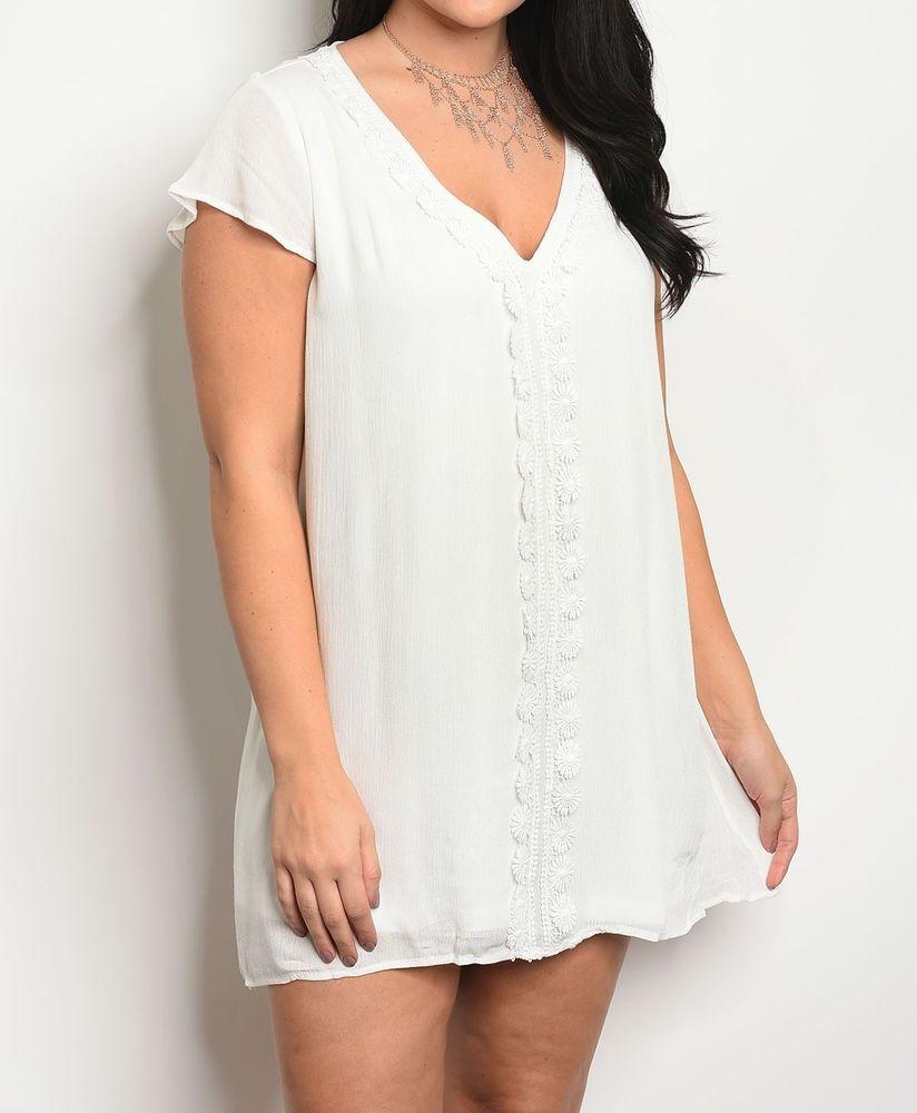 White Linen Blend Shift Mini Dress Crochet Inset Shift Dress Lounge Tunic 1x 3x Fashion Tunicdress Shiftdress Casua Mini Shift Dress Dresses Mini Dress [ 1000 x 824 Pixel ]